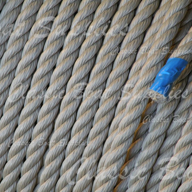 3-Strand Beige Polyester Rope