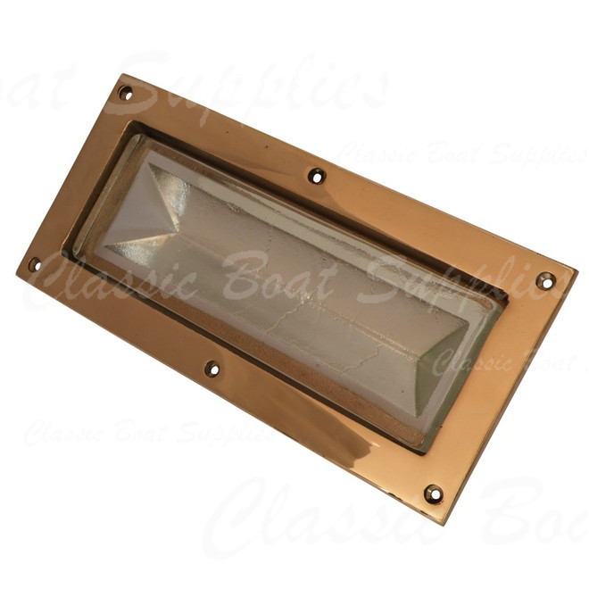 Prism glass viewed when placed in deep bronze frame