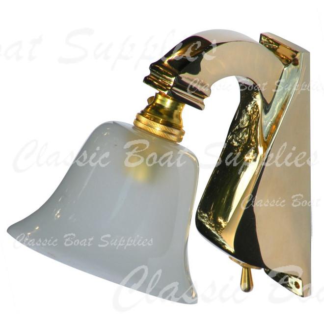 Davey brass light with switch