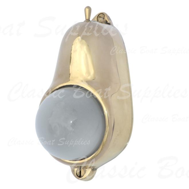 Davey brass teardrop light with switch