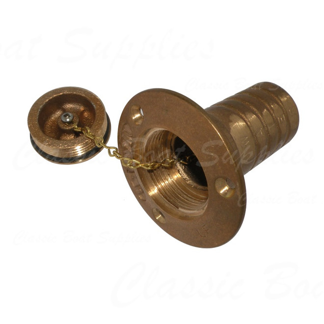 Bronze Deck Filler Cap - Water - Open
