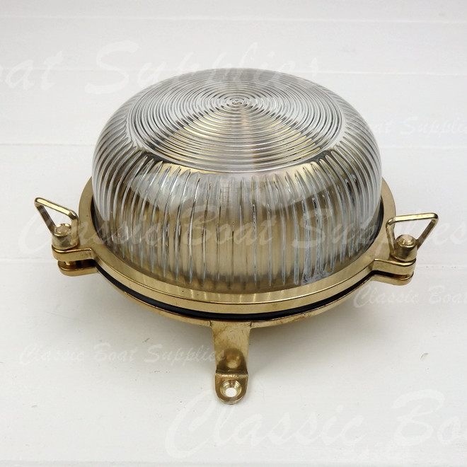 Round Brass Outdoor Light