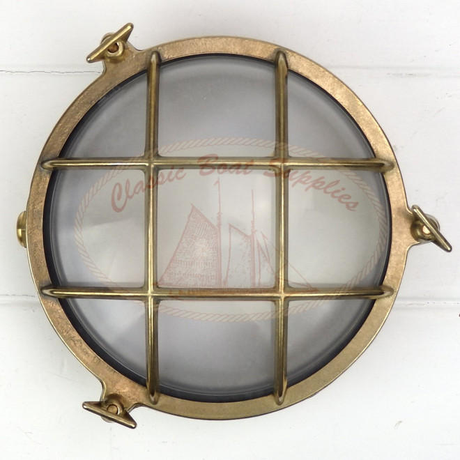 Brass Caged Light - Round LED