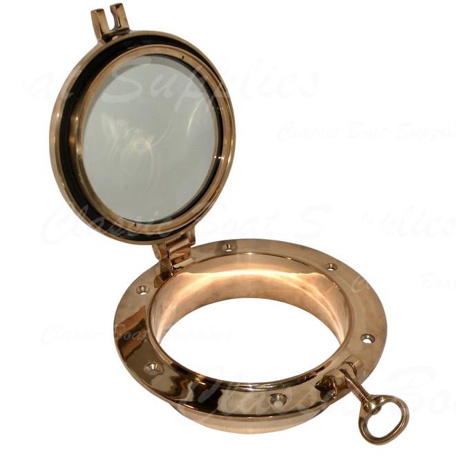Bronze portlight - opening with spigot