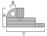 MURRAY bronze track stop MW128 dimensions