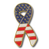 Ribbon Flag Lapel Pin