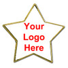 Star Shaped Pin with Custom Imprint