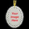 Custom Ceramic Oval Christmas Ornament
