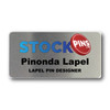 """Personalized 3"""" x 1.5"""" Name Badge Rectangular Silver"""
