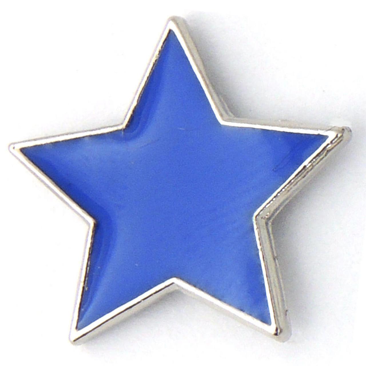 J34 - Colored Star Shaped Lapel Pin