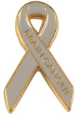 Brain Cancer Ribbon Lapel Pin