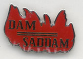 Dam Saddam Lapel Pin