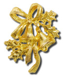 Xmas Bells Lapel Pin