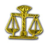 E03 Scales of Justice Lapel Pin