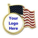American Flag with Your Logo