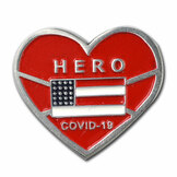Covid-19 Hero Heart Pin