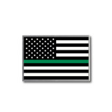 Thin Green Line Flag Lapel Pin