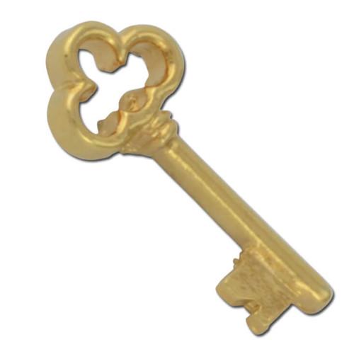 D02 Clover Head Skeleton Key Lapel Pin