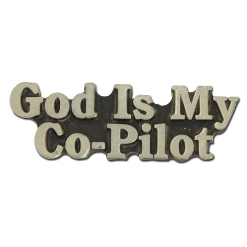 God Is My Co-Pilot Pin