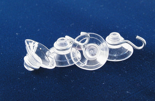 5 Glass Suction Cups w/ Hook