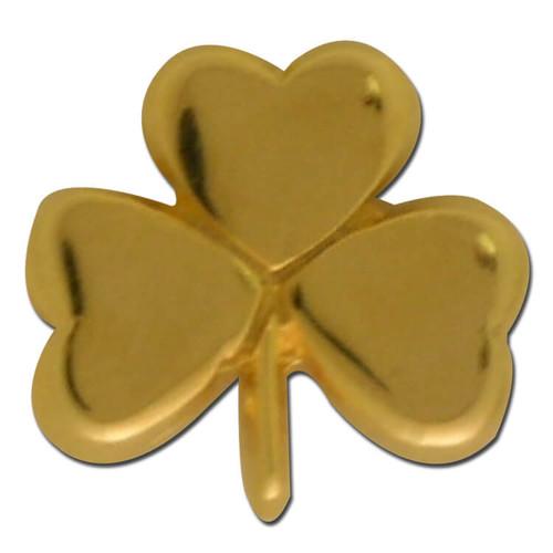 Gold Clover Lapel Pin