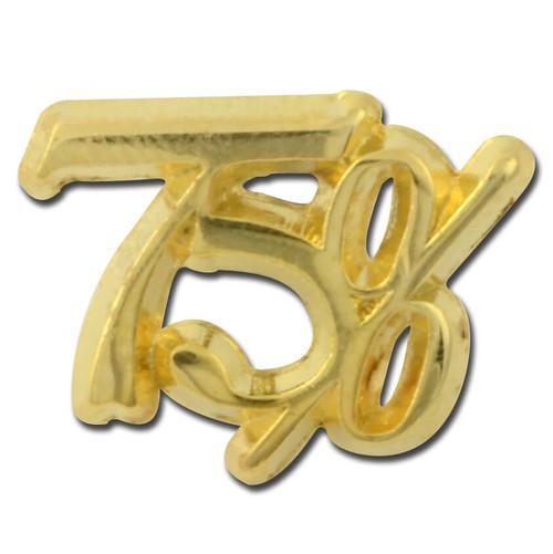 75 percent Lapel Pin