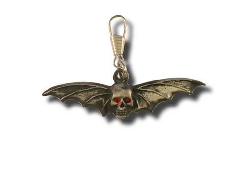 Skull and Wings Zipper Pull