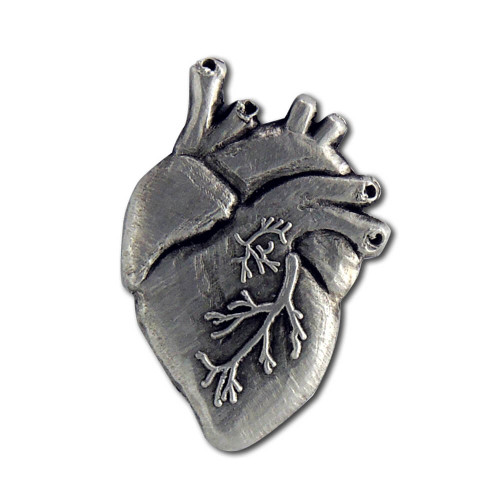 Anatomical Heart Lapel Pin
