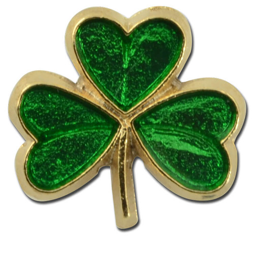 Green Clover Lapel Pin