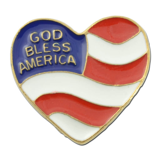 God Bless America Heart Flag