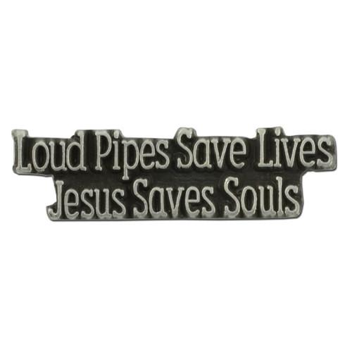 Jesus Saves Souls Pin