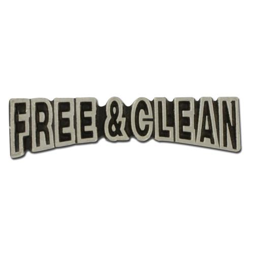 Free & Clean Lapel Pin