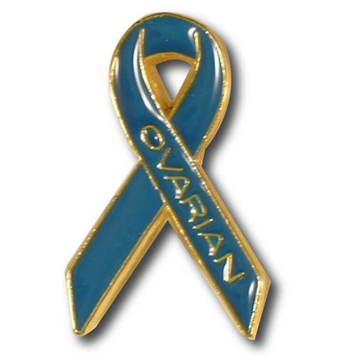 Ovarian Cancer Awareness Ribbon Lapel Pin