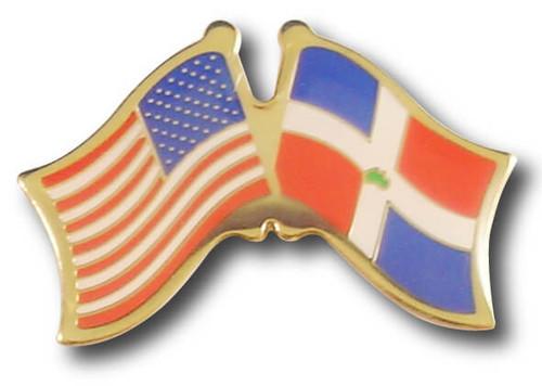 US / Dominican Republic Crossed Flags
