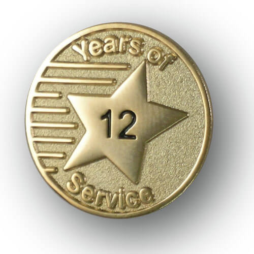 YOS - Years of Service Lapel Pin