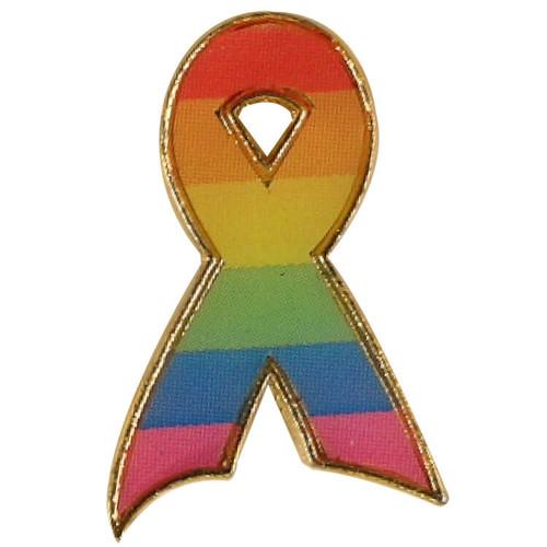 Rainbow Ribbon / Gay Pride Pin