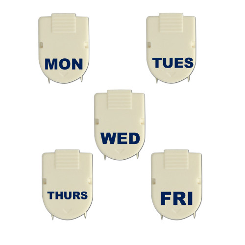 Days of the week cubicle clips