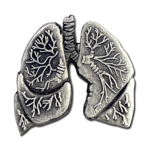Human Lungs Lapel Pin