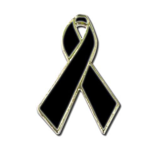 Black Ribbon Lapel Pin