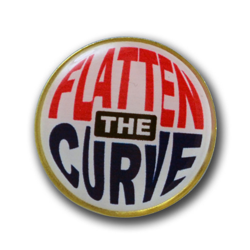 Flatten the Curve Pin