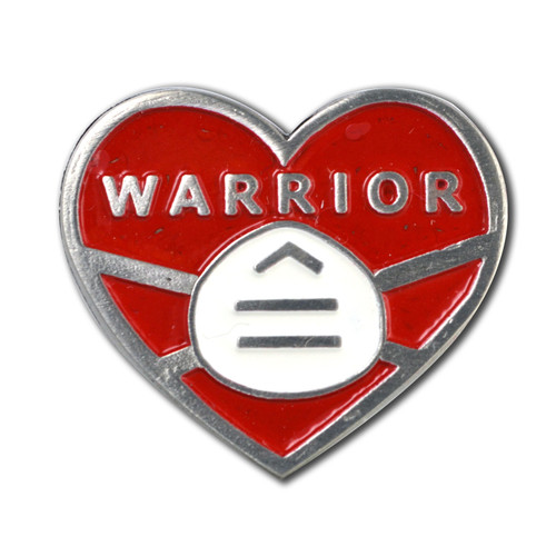 Covid-19 Warrior Heart Pin