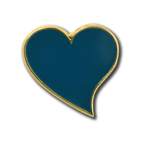 StockPins Teal Heart Lapel Pin