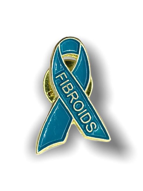 Fibroids Awareness Ribbon Lapel Pin