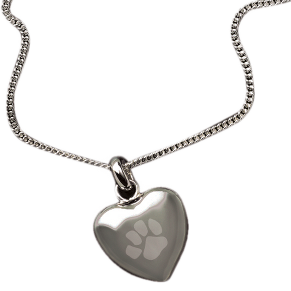 """Keep the memories close with a beautiful rhodium heart shaped pendant that holds a small portion of cremated remains. Includes an 18"""" high quality chain."""