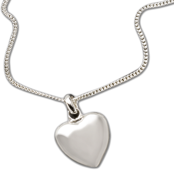 """Keep the memories close with a beautiful sterling heart shaped pendant that holds a small portion of cremated remains.  Includes an 18"""" high quality chain."""