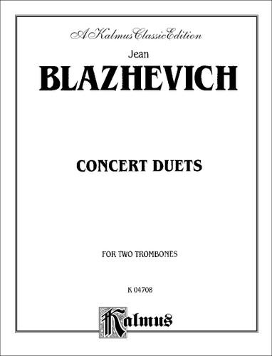 Concert Duets for Two Trombones - Jean Blazhevich