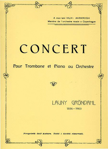Concerto for Trombone & Orchestra - Launy Grondahl
