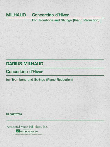 Concertino d'Hiver for Trombone & Piano - Milhaud
