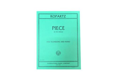Piece in Eb Minor for Trombone & Piano - Ropartz