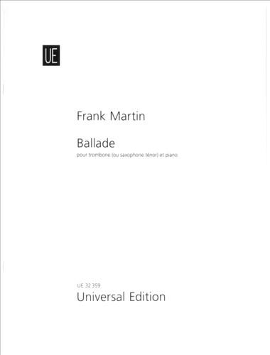 Ballade for Trombone and Piano - Martin